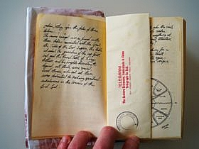 Diary page in The Last Crusade