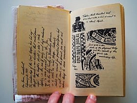 Drawing in the diary of the Holy Grail