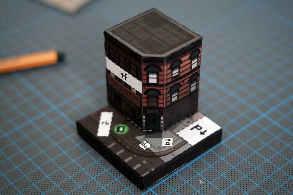 GTA Paper Model Building set
