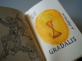 Holy Grail diary illustration