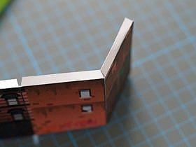 Paper Craft cut Tabs for Right Angle